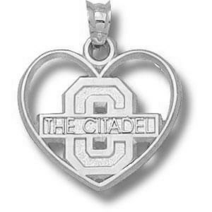 Sterling Silver 3/4in The Citadel Heart Pendant
