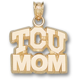 10kt Yellow Gold 1/2in TCU Mom Pendant