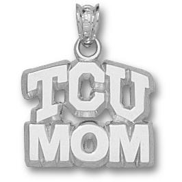 Sterling Silver 1/2in TCU Mom Pendant