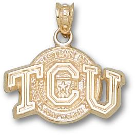 10kt Yellow Gold 1/2in TCU Seal Pendant