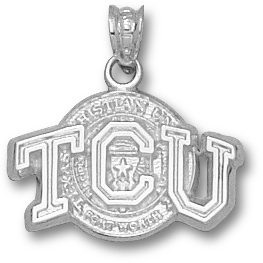 Sterling Silver 1/2in TCU Seal Pendant