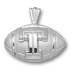 Temple Football 3/8in Pendant Sterling Silver