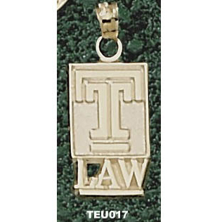 Temple Law 5/8in Pendant 14kt Yellow Gold