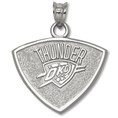 Sterling Silver 5/8in Oklahoma City Thunder Pendant