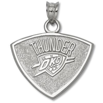 Sterling Silver 5/8in Oklahoma City Thunder Pendant