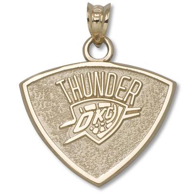 14kt Gold 5/8in Oklahoma City Thunder Pendant
