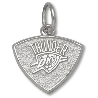Sterling Silver 3/8in Oklahoma City Thunder Charm