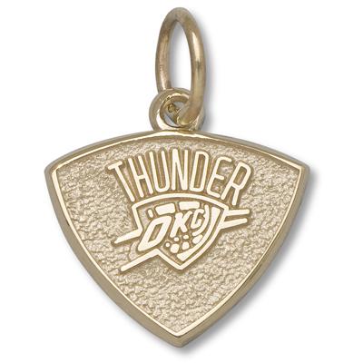 10kt Gold 3/8in Oklahoma City Thunder Charm