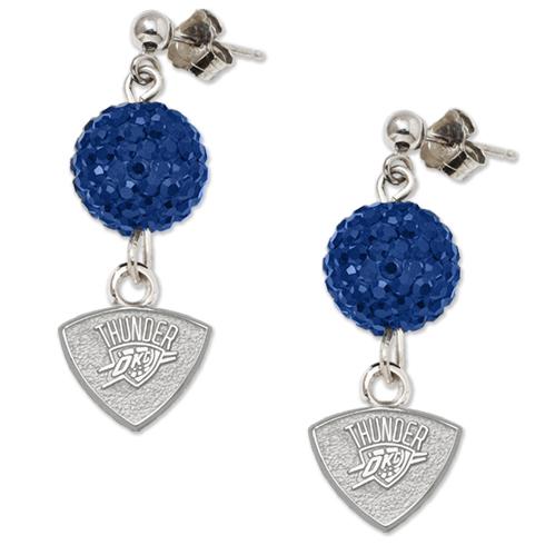 Sterling Silver Oklahoma City Thunder Ovation Earrings