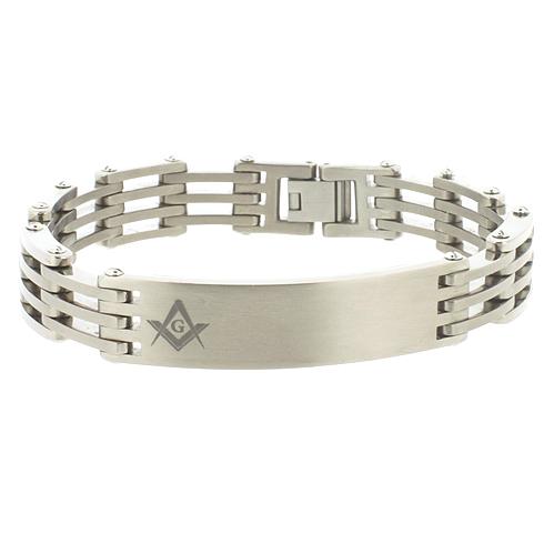 Titanium 8 1/2in Masonic Bracelet