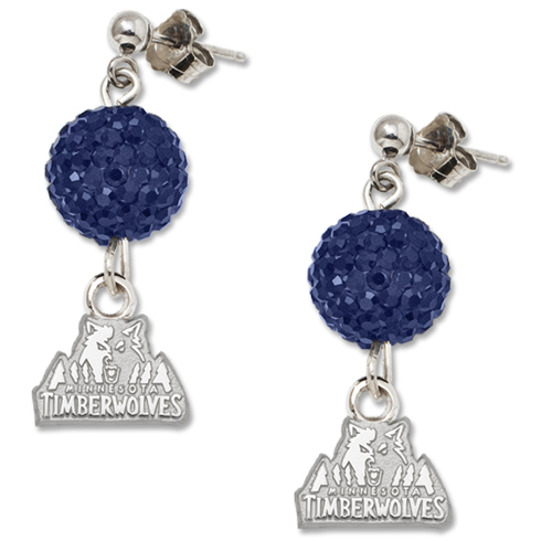 Sterling Silver Minnesota Timberwolves Ovation Earrings