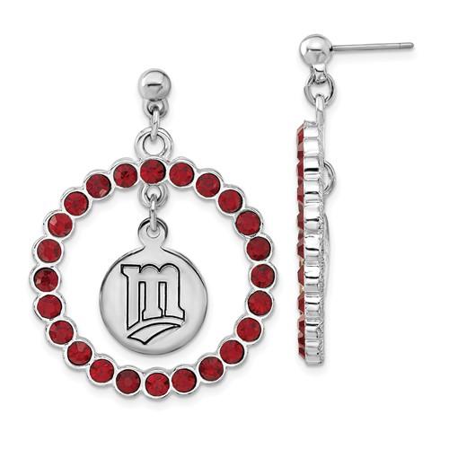 Minnesota Twins Spirit Crystal Logo Earrings