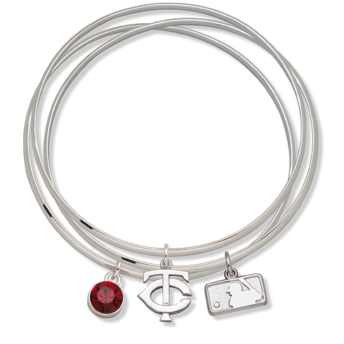 Minnesota Twins Triple Bangle Bracelet Set