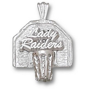 Texas Tech Lady Raiders 3/4in Sterling Silver Pendant