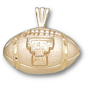 Texas Tech 1/2in 10k Football Pendant