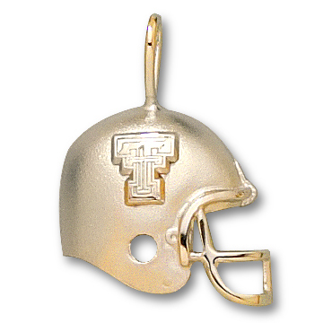 Texas Tech 1/2in 14k Helmet Pendant