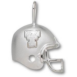 Texas Tech 1/2in Sterling Silver Helmet Pendant