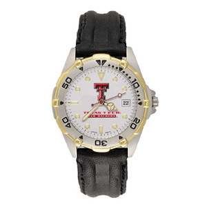 Texas Tech Red Raiders Mens All Star Leather Watch
