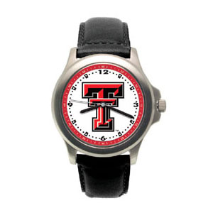 Texas Tech Red Raiders Rookie Leather Watch - Clearance