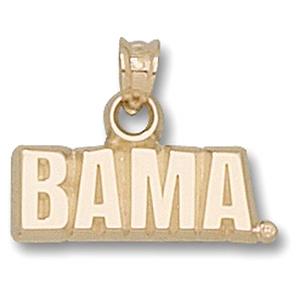 Alabama Crimson Tide 5/8in 14k Bama Pendant