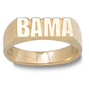10kt Yellow Gold Men's University of Alabama BAMA Ring