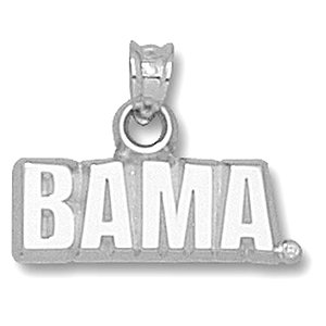 Sterling Silver 5/8in University of Alabama BAMA Pendant