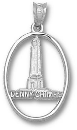 Sterling Silver 3/4in University of Alabama Denny Chimes Pendant