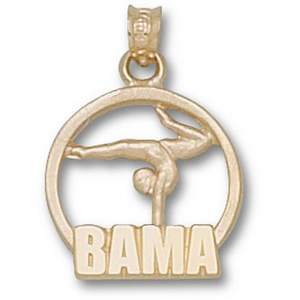 Alabama 3/4in 10k Gymnast Pendant