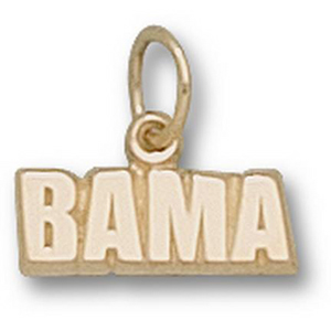 Alabama Crimson Tide 3/16in 14k Bama Pendant