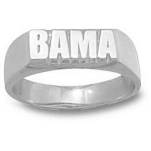 Sterling Silver University of Alabama Ladies' BAMA Ring
