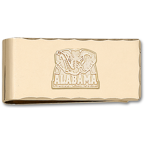 Gold Plated University of Alabama Money Clip