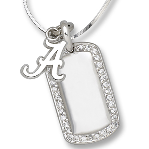 Sterling Silver University of Alabama Mini Dog Tag Necklace