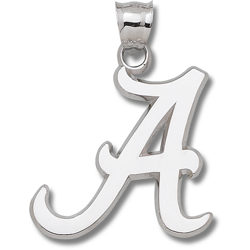 Sterling Silver 1 3/4in University of Alabama A Pendant