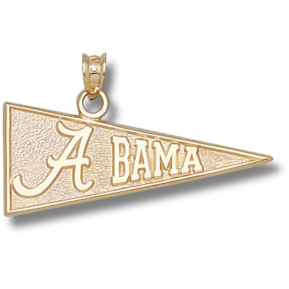 University of Alabama 1/2in Pendant 14kt Yellow Gold