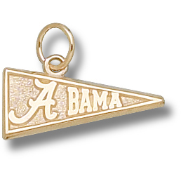 University of Alabama 5/16in Pendant 14kt Yellow Gold