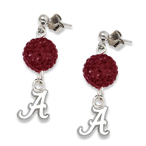 Sterling Silver University of Alabama Ovation Earrings