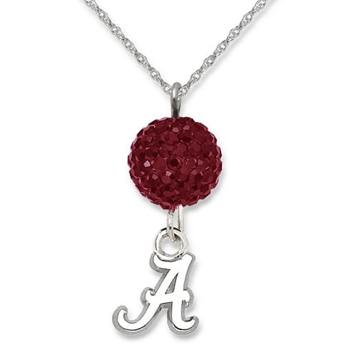 Sterling Silver University of Alabama Crystal Ovation Necklace