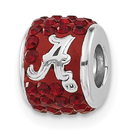 Sterling Silver University of Alabama Premier Bead Charm