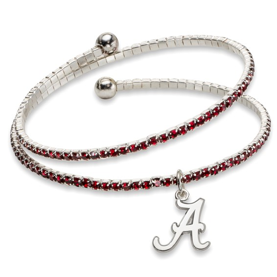 University of Alabama Amped Logo Crystal Bracelet
