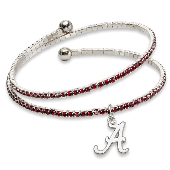 University of Alabama Amped Logo Crystal Bracelet
