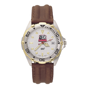 University of Alabama Mens All Star Leather Watch
