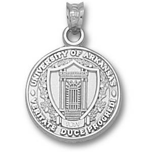 Arkansas Razorbacks 5/8in Sterling Silver Seal Pendant