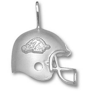 Arkansas Razorbacks 3/4in Sterling Silver Helmet Pendant