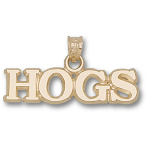 Arkansas Razorbacks 1/4in 10k HOGS Pendant