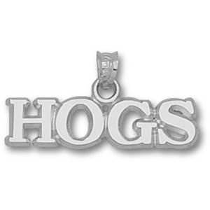 Arkansas Razorbacks 1/4in Sterling Silver HOGS Pendant