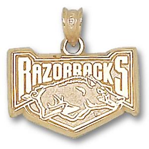 14kt Yellow Gold 5/8in Arkansas Razorbacks Hog Pendant