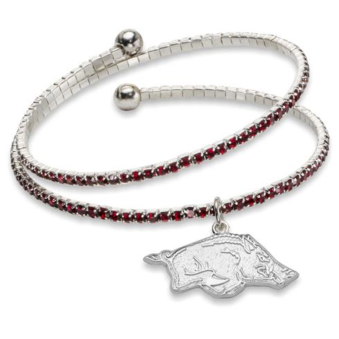 University of Arkansas Amped Logo Crystal Bracelet