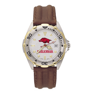 Arkansas Razorbacks Mens All Star Leather Watch