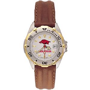 Arkansas Razorbacks Ladies' All Star Leather Watch