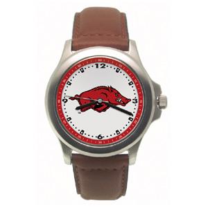 Arkansas Razorbacks Rookie Leather Watch - Clearance